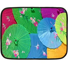 Chinese Umbrellas Screens Colorful Double Sided Fleece Blanket (Mini)