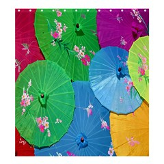 Chinese Umbrellas Screens Colorful Shower Curtain 66  X 72  (large)