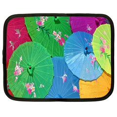 Chinese Umbrellas Screens Colorful Netbook Case (XXL)