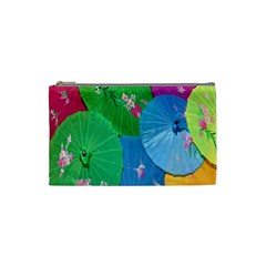 Chinese Umbrellas Screens Colorful Cosmetic Bag (Small)