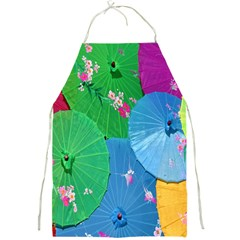 Chinese Umbrellas Screens Colorful Full Print Aprons