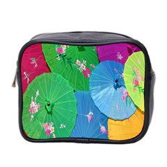 Chinese Umbrellas Screens Colorful Mini Toiletries Bag 2-Side
