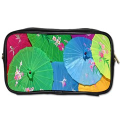 Chinese Umbrellas Screens Colorful Toiletries Bags 2-Side