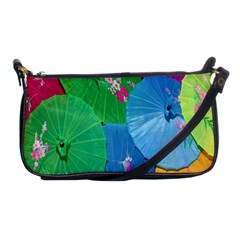 Chinese Umbrellas Screens Colorful Shoulder Clutch Bags
