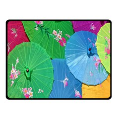 Chinese Umbrellas Screens Colorful Fleece Blanket (small)