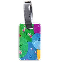 Chinese Umbrellas Screens Colorful Luggage Tags (Two Sides)