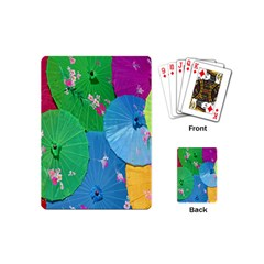 Chinese Umbrellas Screens Colorful Playing Cards (mini)