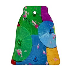 Chinese Umbrellas Screens Colorful Bell Ornament (Two Sides)