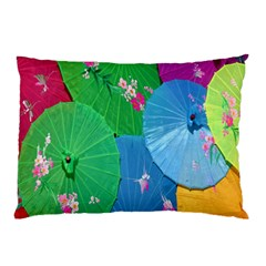 Chinese Umbrellas Screens Colorful Pillow Case (Two Sides)