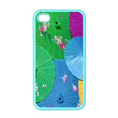 Chinese Umbrellas Screens Colorful Apple iPhone 4 Case (Color)