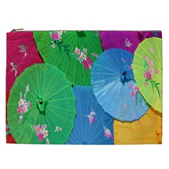 Chinese Umbrellas Screens Colorful Cosmetic Bag (XXL)