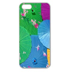 Chinese Umbrellas Screens Colorful Apple Seamless iPhone 5 Case (Clear)