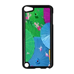 Chinese Umbrellas Screens Colorful Apple iPod Touch 5 Case (Black)