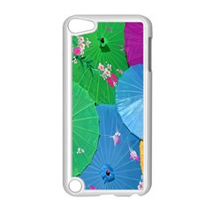 Chinese Umbrellas Screens Colorful Apple iPod Touch 5 Case (White)