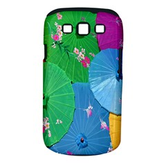 Chinese Umbrellas Screens Colorful Samsung Galaxy S III Classic Hardshell Case (PC+Silicone)