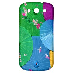 Chinese Umbrellas Screens Colorful Samsung Galaxy S3 S III Classic Hardshell Back Case