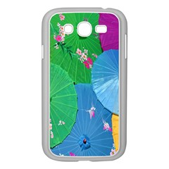 Chinese Umbrellas Screens Colorful Samsung Galaxy Grand Duos I9082 Case (white)