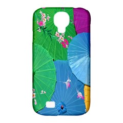 Chinese Umbrellas Screens Colorful Samsung Galaxy S4 Classic Hardshell Case (pc+silicone)