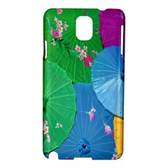 Chinese Umbrellas Screens Colorful Samsung Galaxy Note 3 N9005 Hardshell Case