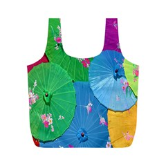 Chinese Umbrellas Screens Colorful Full Print Recycle Bags (m)