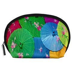 Chinese Umbrellas Screens Colorful Accessory Pouches (Large)