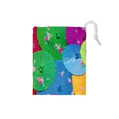 Chinese Umbrellas Screens Colorful Drawstring Pouches (Small)