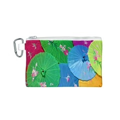 Chinese Umbrellas Screens Colorful Canvas Cosmetic Bag (s)