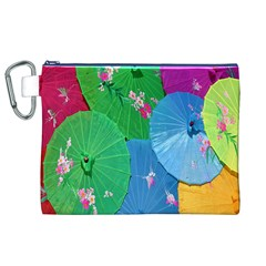 Chinese Umbrellas Screens Colorful Canvas Cosmetic Bag (XL)
