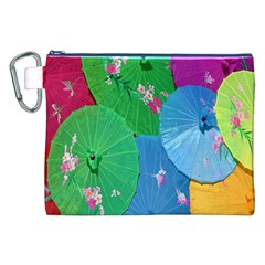 Chinese Umbrellas Screens Colorful Canvas Cosmetic Bag (xxl)