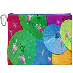 Chinese Umbrellas Screens Colorful Canvas Cosmetic Bag (XXXL)
