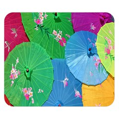 Chinese Umbrellas Screens Colorful Double Sided Flano Blanket (small)