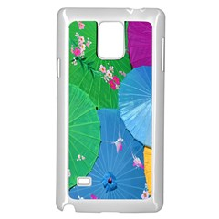 Chinese Umbrellas Screens Colorful Samsung Galaxy Note 4 Case (white)