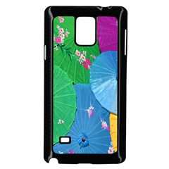 Chinese Umbrellas Screens Colorful Samsung Galaxy Note 4 Case (black)