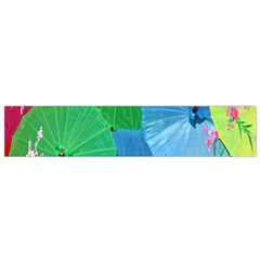 Chinese Umbrellas Screens Colorful Flano Scarf (small)