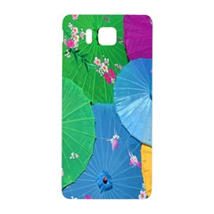 Chinese Umbrellas Screens Colorful Samsung Galaxy Alpha Hardshell Back Case