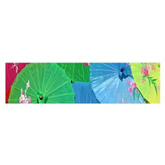 Chinese Umbrellas Screens Colorful Satin Scarf (oblong)