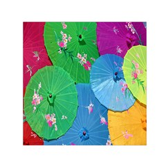 Chinese Umbrellas Screens Colorful Small Satin Scarf (Square)