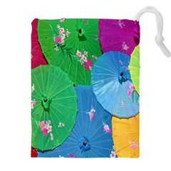 Chinese Umbrellas Screens Colorful Drawstring Pouches (XXL)