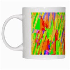 Cheerful Phantasmagoric Pattern White Mugs