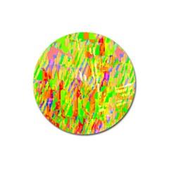 Cheerful Phantasmagoric Pattern Magnet 3  (round)