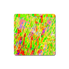 Cheerful Phantasmagoric Pattern Square Magnet