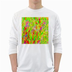 Cheerful Phantasmagoric Pattern White Long Sleeve T-Shirts