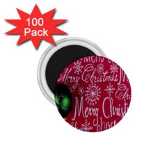 Christmas Decorations Retro 1.75  Magnets (100 pack)