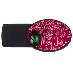 Christmas Decorations Retro USB Flash Drive Oval (1 GB)