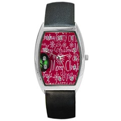 Christmas Decorations Retro Barrel Style Metal Watch