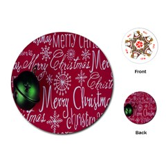 Christmas Decorations Retro Playing Cards (Round)