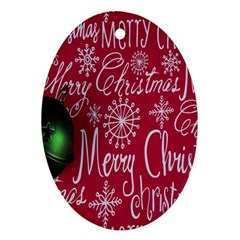 Christmas Decorations Retro Oval Ornament (Two Sides)