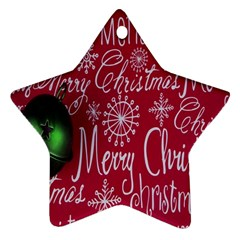 Christmas Decorations Retro Star Ornament (Two Sides)
