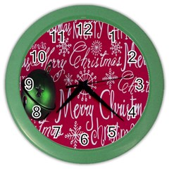 Christmas Decorations Retro Color Wall Clocks