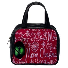 Christmas Decorations Retro Classic Handbags (One Side)